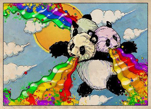 Rainbow Pandas 2